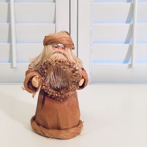 Other - Boho paper Santa - made from corn husks and corn.